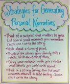 Strategies for Generating Personal Narratives Anchor Chart