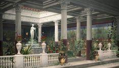 Roman atrium house garden by Artpet on DeviantArt Ancient Roman Houses, Ancient Buildings, Ancient Rome, Ancient Greece, Roman Architecture, Unique Architecture, Ancient Architecture, Roman Garden, Atrium House