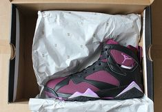 new styles 4ac40 39b40 How To Buy Authentic Youth Big Boys Air Jordan Boys Shoe Air Jordan 7 Youth  Black Fuchsia Glow Mulberry Wolf Grey 442960 009 On Sale
