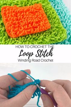 The loop stitch is a beautiful stitch that makes loops while you crochet. Use this video and photo tutorial to learn how to make this stitch. muster videos How to Crochet: Loop Stitch Video Tutorial Crochet Loop, Love Crochet, Easy Crochet, How To Crochet, Puff Stitch Crochet, Crochet Crocodile Stitch, Crochet Doily Rug, Crochet Scrubbies, Crochet Towel