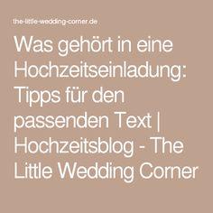 Was gehört in eine Hochzeitseinladung: Tipps für den passenden Text   Hochzeitsblog - The Little Wedding Corner