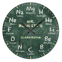Shop Chemistry Science Chalkboard Personalizable Clock created by NiceTiming. Personalize it with photos & text or purchase as is! Chemistry Drawing, Chemistry Art, Gifts For Professors, Kids Wall Murals, Cool Clocks, Diy Clock, Back To School Gifts, Personalized Note Cards, Science