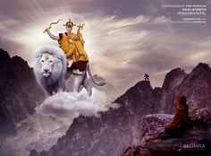 Dorje Shugden appearing to a hermit in the moutains