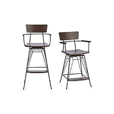 Elston Swivel Barstools BY Crate And Barrel