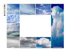 Printable cloud viewer to help kids learn to identify types of clouds