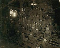 Coal Miners Pennsylvania 1911.  Coal miners at Ewen Breaker Pennsylvania Coal Company South Pittston, PA.
