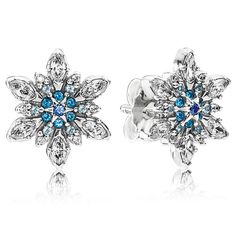 PANDORA Snowflake Blue  Earrings