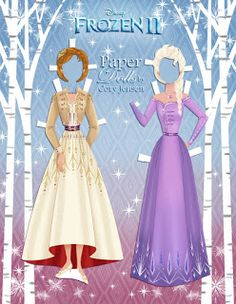 Frozen 2 paper dolls Elsa and Anna with clothing and hairstyles Frozen Paper Dolls, Disney Paper Dolls, Elsa And Anna Dolls, Imprimibles Toy Story Gratis, Paper Doll Craft, Paper Dolls Clothing, Frozen 2, Paper Dolls Printable, Dress Up Dolls