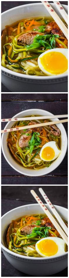Authentic Ramen with Zoodles! A low carb, and healthy way to eat your favorite dish!!