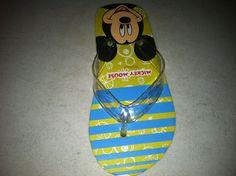 Plain Mickey Mouse Flip Flops...then...