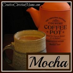 Mocha Recipe from Healthy Ingredients! Skip the canned flavored coffee mix, along with all it's toxic ingredients!