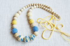 Babywearing Teething Nursing necklace for by NecklacesForMommy, $25.00