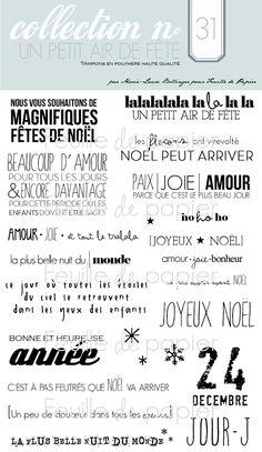 MATERIEL > Tampons > Marie-Laure Bollinger pour Feuille de papier > Collections N° 31 Un petit air de fête - Feuille de papier - Kits en ligne