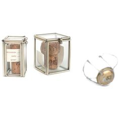 These hinged glass boxes are a way to preserve that special moment once the cork has been popped, the toast has been said, and the bottle has been emptied.