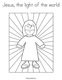 Jesus The Light Of World Coloring Page