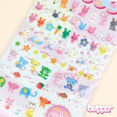Korea Sticker Set - Rabbit and Bear