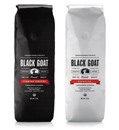 Black Goat - Love the simplicity. These would be very easy to spot at shelf.