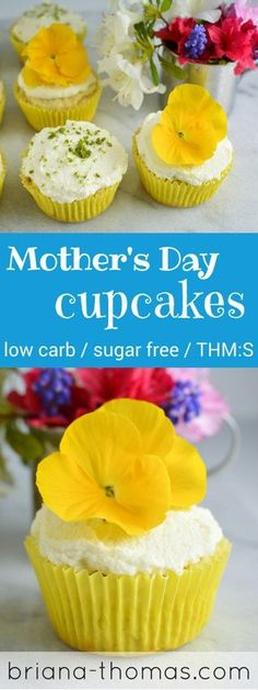 Mother's Day Cupcakes // THM:S, low carb, sugar free