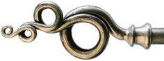 handforged wrought iron ringlet curtain pole finial by Nigel Tyas ironwork