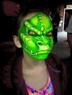 Dutch Bihary dinosaur or dragon face painting design