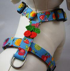 Handmade Adjustable Dog Harness - Fruit Salad by Gatorgrrl Boutique on #Etsy #Fruitcrafts #products