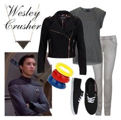 Wesley Crusher by fandom-wardrobes on Polyvore featuring polyvore, fashion, style, Topshop, MINKPINK, MiH Jeans, Wallis, Kate Spade, star trek and wesley crusher