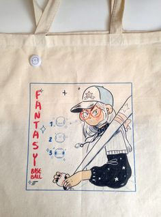 Fantasy Baseball (Tote bag and button) - Thumbnail 3