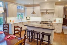 Kitchen remodel with white kitchen cabinets - Wolf Classic cabinets