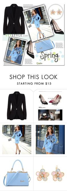 """""""Spring (Yessstyle)"""" by cherry-bh ❤ liked on Polyvore featuring Alexander McQueen, JY Shoes, Dabuwawa, SUOAI, Mixit and Anja"""