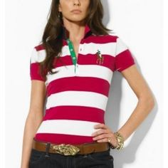 Ralph Lauren Refined Big Pony Red White Stripe Breathable Short http://www.