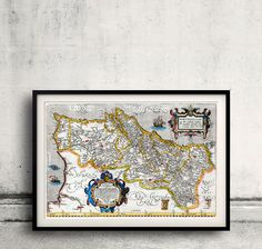 Map of Portugal by Ortelius - 1560 - FREE SHIPPING - SKU 0006 by PaulMaps on Etsy
