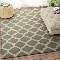 Imperial Knots Olive Beige Trellis Handwoven Flat Weave Rug - Add oodles of style to your home with an exciting range of designer furniture, furnishings, decor items and kitchenware. We promise to deliver best quality products at best prices.