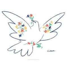 Pablo Picasso Dove Of Peace...I'd love this as a tattoo!