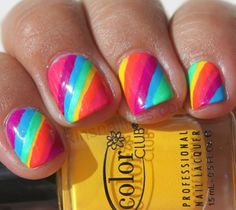 Image Viadripping Rainbow Nail Art With Holographic Polish Tooimage Viacute Colorful Design I Pin So Can Remember To Try Which Ve Said About