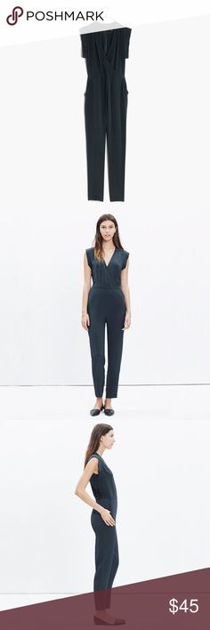 Madewell Silk Yates Jumpsuit in Blue. New w/o tags Gorgeous 100% silk jumpsuit in deep sea blue. Brand new, never worn without tags. Size 14 Madewell Pants Jumpsuits & Rompers