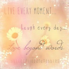 Live every moment ... Butterflies and pebbles / Facebook. Com