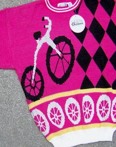 80s bicycle sweater - deadlyvintage.com