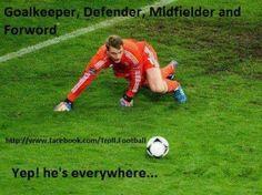 Total Football Football Troll, Euro 2012, Semi Final, Goalkeeper, Soccer Ball, Sports, Germany, Wall, Manuel Neuer