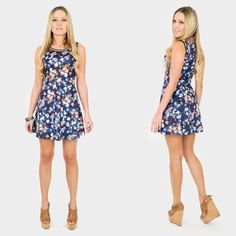❌ CLEARANCE! BLUE FLORAL PRINT SKATER DRESS $10 Clearance sale! Price firm unless bundled.Live a little and embrace the blues with this floral print inspired skater dress! This style is form-fitting with a flared bottom that would have you going in circles. Highlight the look with a comfortable wedge and bracelet or watch. Pictures are showing a small  Floral print Skater Dress Mini | Above the knee Flared 96% Polyester 4% Spandex Dresses
