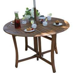 "Noah 48"" Folding Eucalyptus Dining Table"