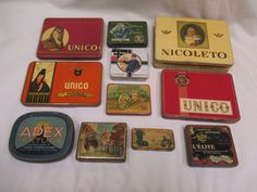 Collection of rare 11 tins : Early 20th Century Tobacco Cigarette Tin 1910/1930 | eBay