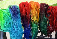 Dyeing wool for doll hair/crafts
