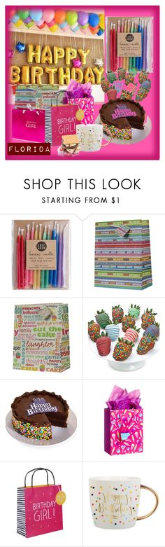 """""""Happy birthday"""" by floridanuha ❤ liked on Polyvore featuring Knot & Bow, Chocolate Covered Company and Happy Jackson"""