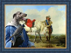 Irish Wolfhound Dog Art CANVAS Print Fine Artwork of Nobility Dogs Dog Portrait Dog Painting Dog Art Dog Print