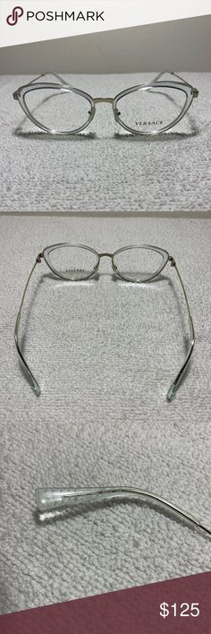 306c748f4dd1 Versace 1244 1405 Clear Cats Eye Eyeglasses Versace Mod. 1244 1405 Clear  53mm Cats Eye