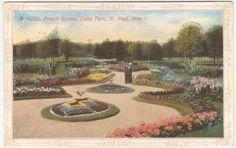 ST PAUL-MN-1914-Como Park-French Garden-Postcard | eBay