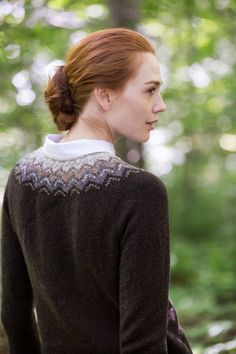 BROOKLYNTWEED - Flight COLORWORK YOKED PULLOVER by Sarah Pope