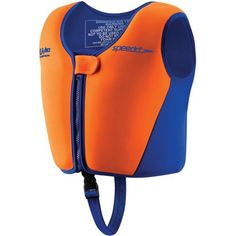 Speedo Begin to Swim Classic Swim Vest, Medium by Speedo. $15.95. Speedo's Classic Swim Vest is perfect for the child who is familiar with the water and is building his/her confidence.  They are still dependent on full flotation and are just beginning to develop swimming skills.  The comfortable flotation device with full front zipper with safety closure and leg strap is sure to stay secure during water enjoyment.  The UV protection is a huge plus and allows f...