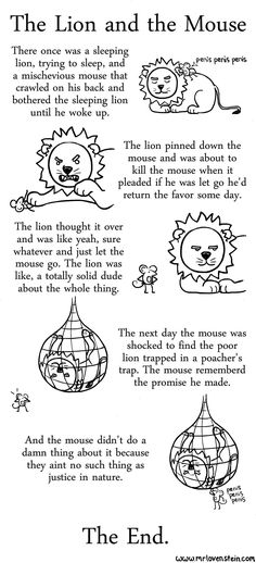 The lion and the mouse // funny pictures - funny photos - funny images - funny pics - funny quotes - English Moral Stories, Short Moral Stories, Moral Stories For Kids, Children Stories, English Writing, English Literature, Teaching English, Sequencing Pictures, Sequencing Cards