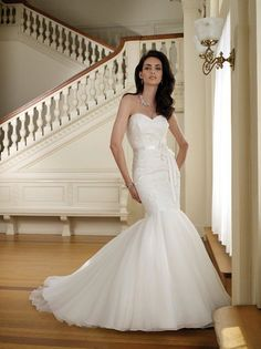 Sweetheart Trumpet Organza Wedding Gown with Ribbon Bodice, wedding dresses, wedding dress, wedding dresses 2014 Organza Wedding Gowns, Wedding Dresses Photos, Wedding Dress Trends, Wedding Dresses For Sale, Bridal Wedding Dresses, Wedding Dress Styles, Bridesmaid Dresses, Organza Bridal, Bride Dresses